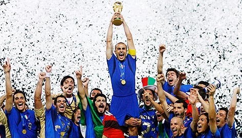 World Cup Winners Italy in 2006 - soccer exams