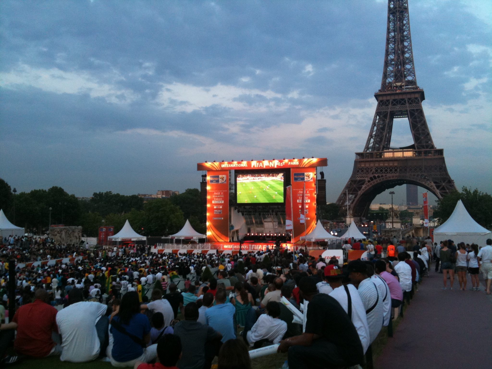 Watching the World Cup in Paris