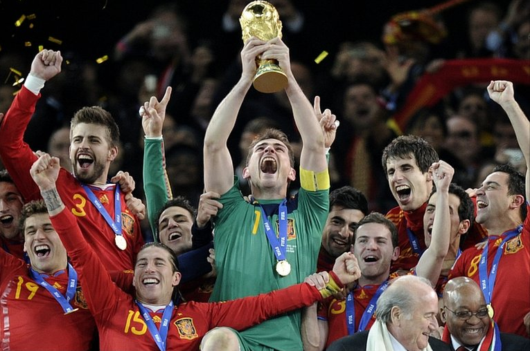 Spain Winning the World Cup