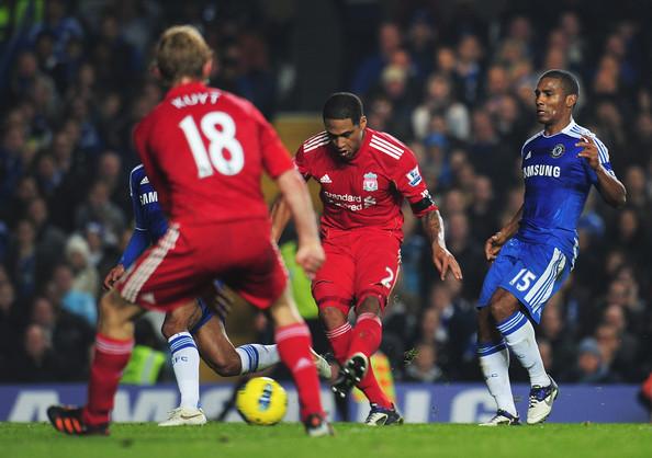 Glen Johnson scores against Chelsea