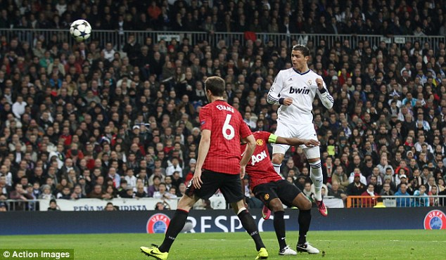 Great header by Ronaldo against United
