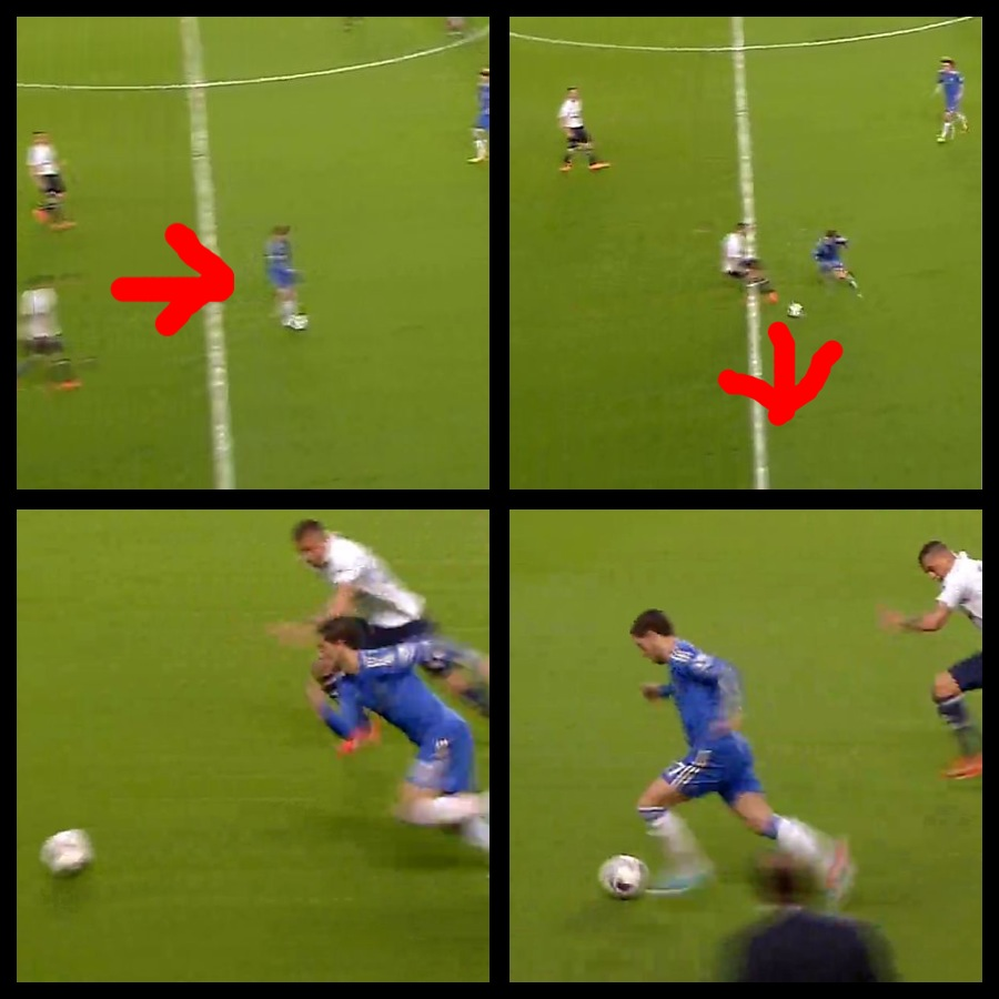Playing smart: Eden Hazard vs Tottenham