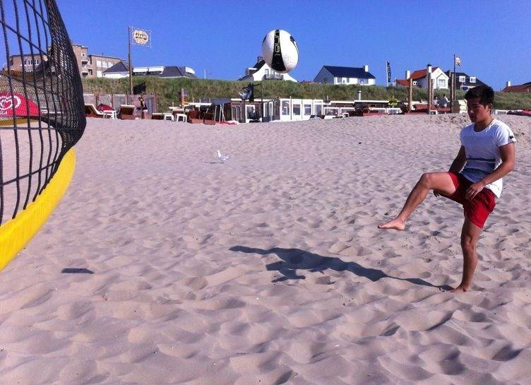 Playing Football at Zandvoort Beach!