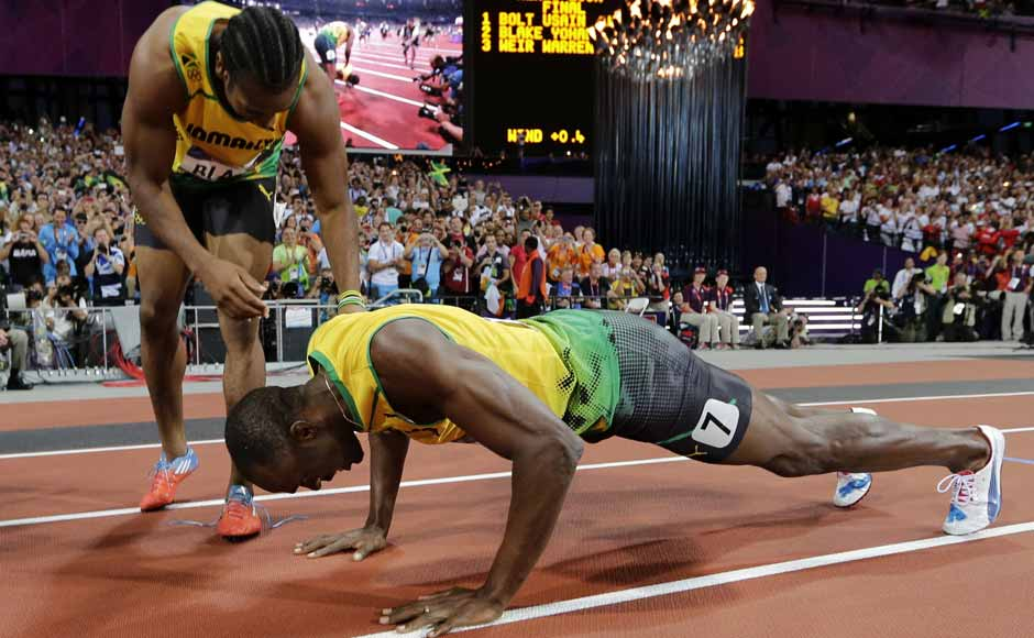 Unrelated but Usain Bolt's constant wins amazing