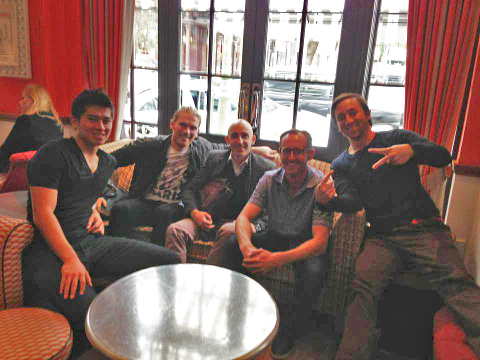 In London with author Rasmus Ankersen and Blake Wooster of the 21st Club aswell as Jordan Katz and Andy Flack of CREATE.IT - helping undiscovered talent! Making things happen!